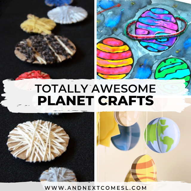 Solar system and planet crafts for kids