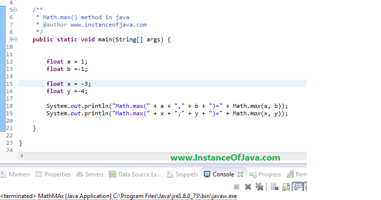 23 Java Design Patterns Java Program To Find Maximum Of Two Numbers Using Math Max