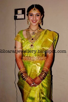Jewellery At Tamil Actress Sridevi Wedding Party Jewellery Designs