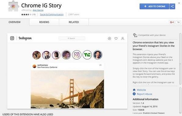Cara Melihat Instagram Stories Melalui Browser Google Chrome