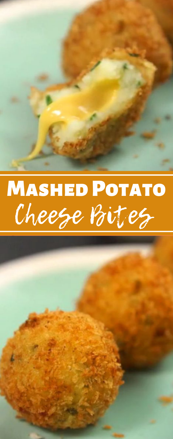 Mashed Potato Cheese Bites #vegetarian #vegan #potato #cheese #healthydinner