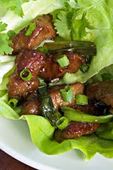 Mongolian Lamb with Lettuce Cups
