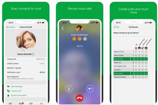 تطبيق Threema تطبيق محادثة أكثر من رائع