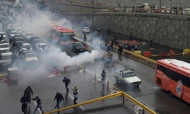 إيران: الأمين العام للأمم المتحدة«غوتيرش» يشعر بالحزن على فقدان الأرواح في الاحتجاجات على إرتفاع اسعار البنزين