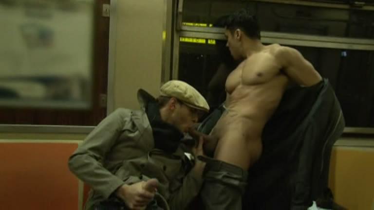 Subway blowjob