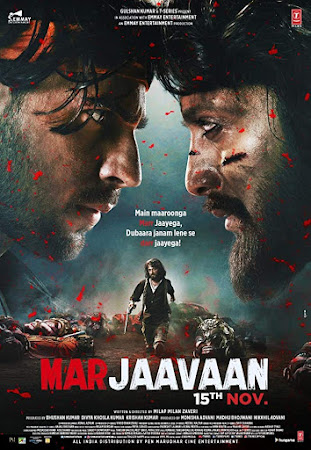 Poster Of Bollywood Movie Marjaavaan 2019 300MB Pdvd Full Hindi Movie