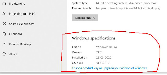 Windows 10 System Menu