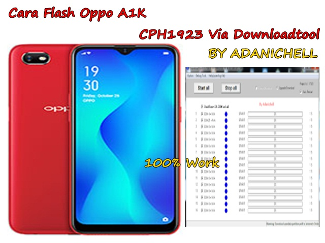 Cara Flash Oppo A1K CPH1923 Via Downloadtool