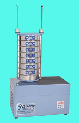 Mechanical Sieve Shaker used in sieve analysis of fine aggregates