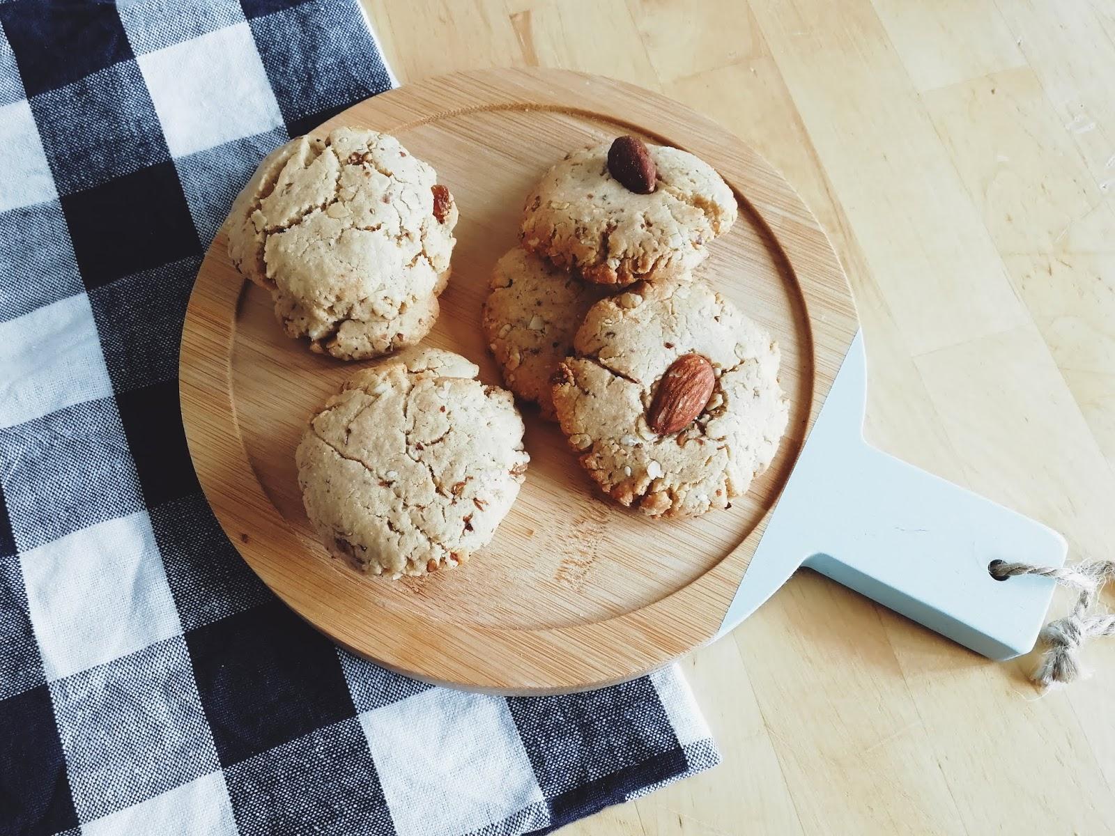 Recette de cookies végétaliens aux beurres d'oléagineux