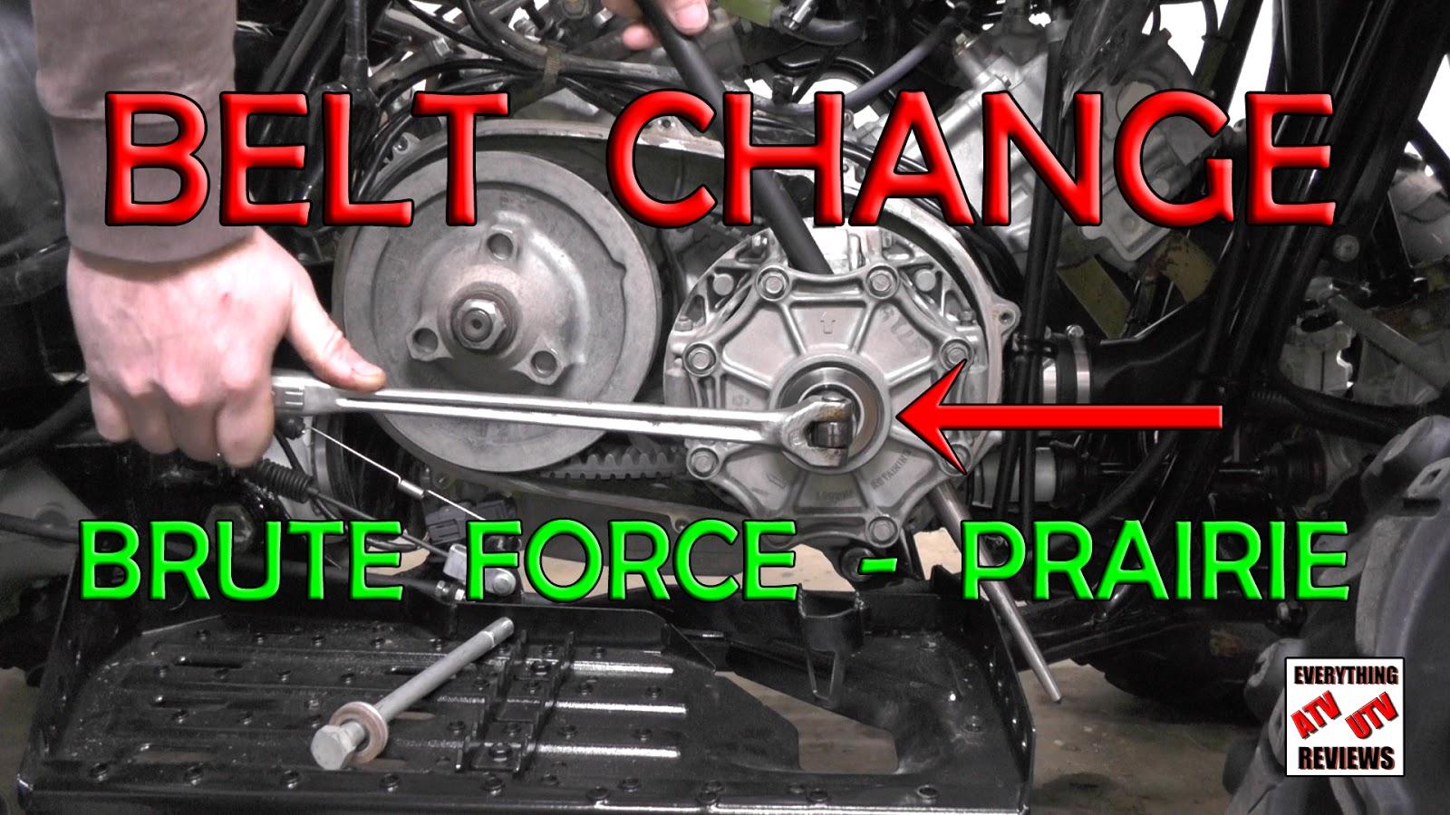 Everything Atv Utv Reviews How To Change Belt Kawasaki