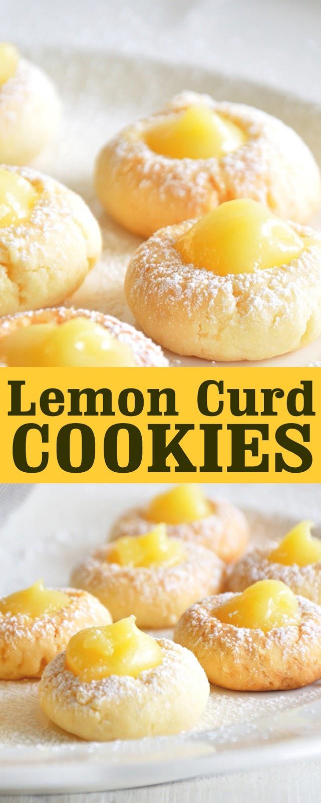 Recipe Lemon Curd Cookies #cookies #recipes