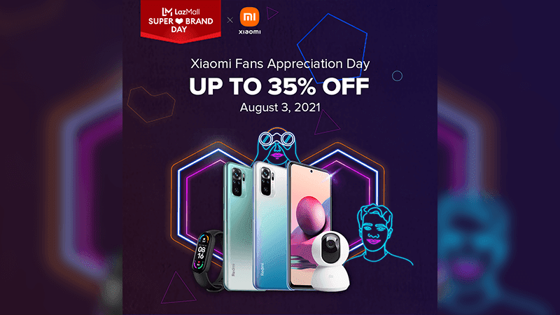 Xiaomi joins LazMall Super Brand Day with up to 35 percent discounts!