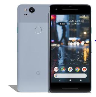 Source: Google blog post. The Google Pixel 2 in Kinda Blue.