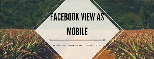 Facebook View As Mobile