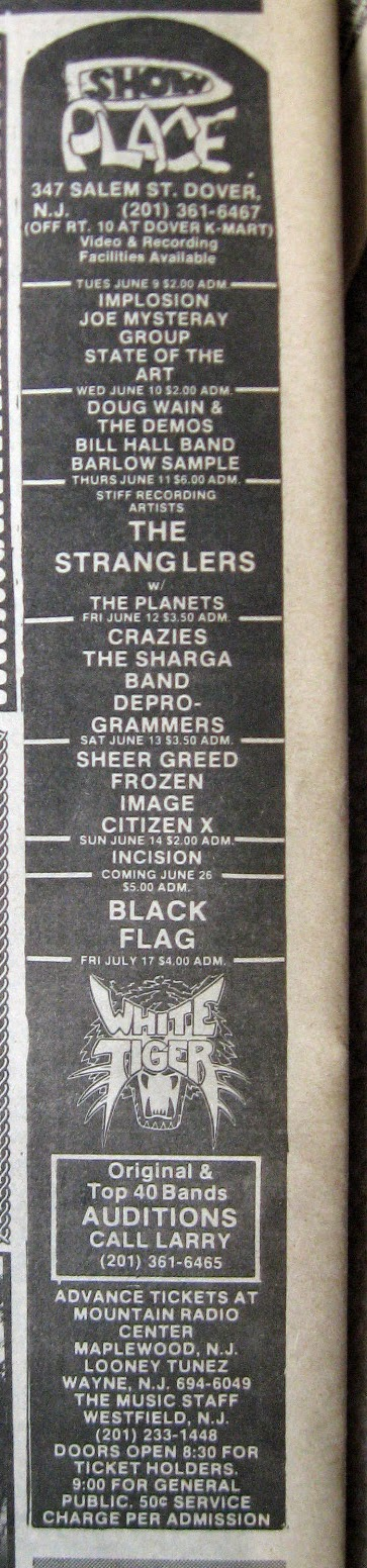 The Show Place band line up 1981