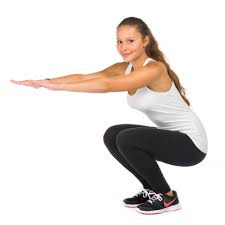 Squat exercise to reduce cellulite