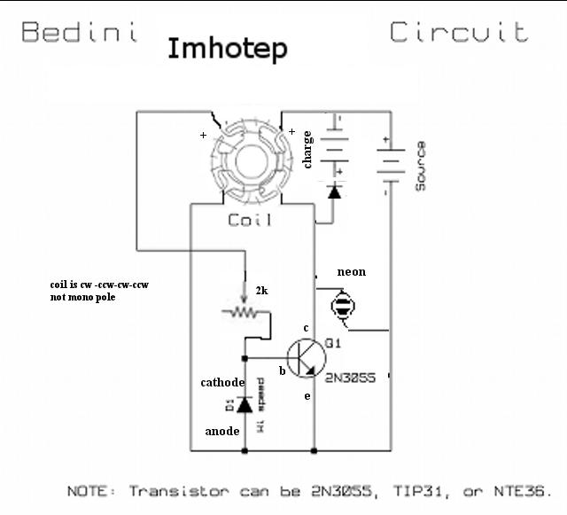 Circuito Motor Bedini : Circuito para motor bedini de las monedas