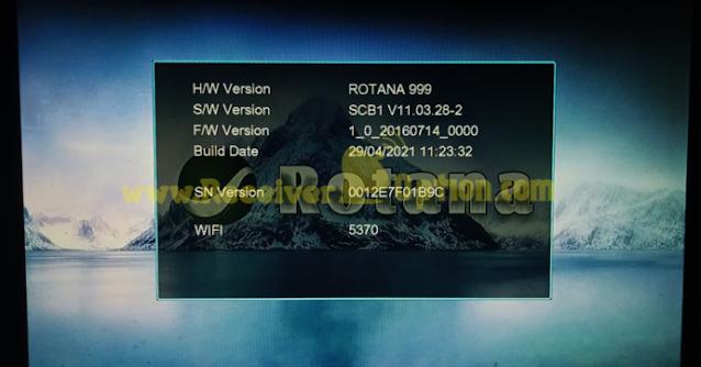 ROTANA 999 1506TV 512 4M NEW SOFTWARE 29 APRIL 2021
