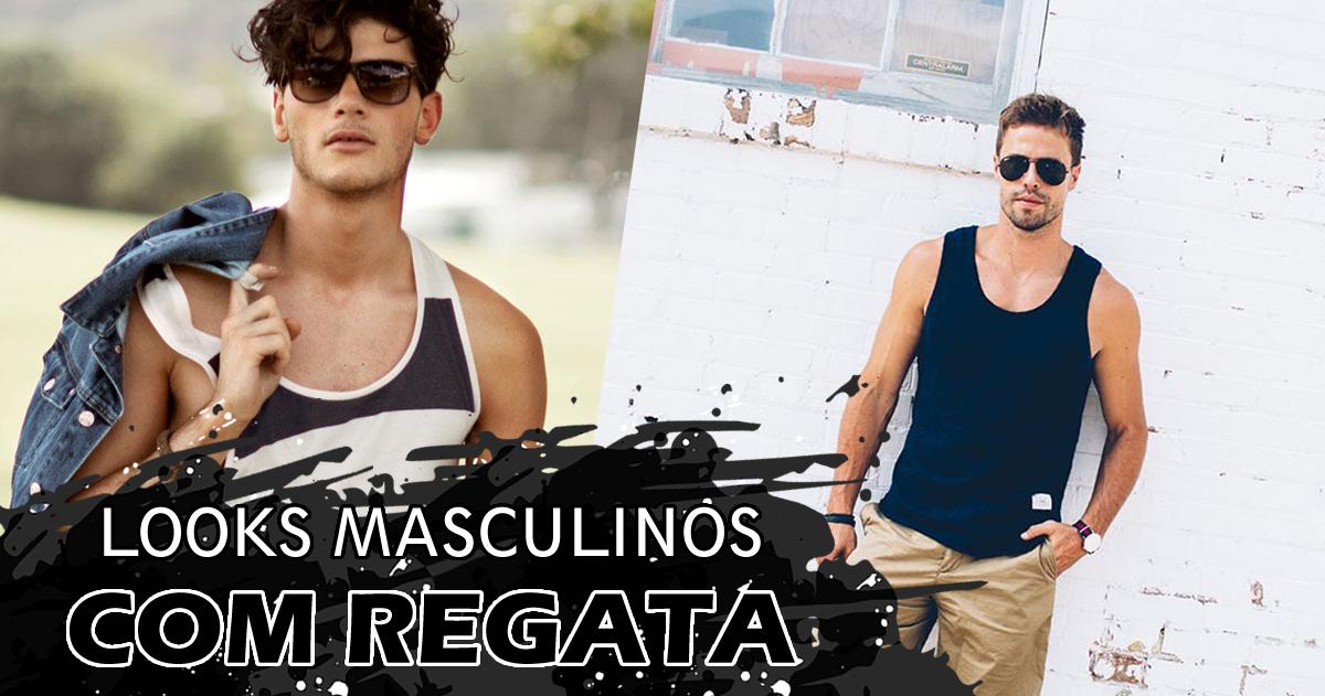 looks masculinos com regatas para usar no verão!