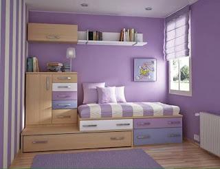 habitacion para niños violeta
