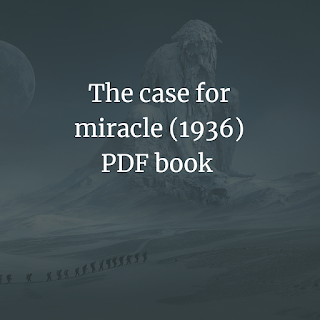 The case for miracle (1936) PDF book