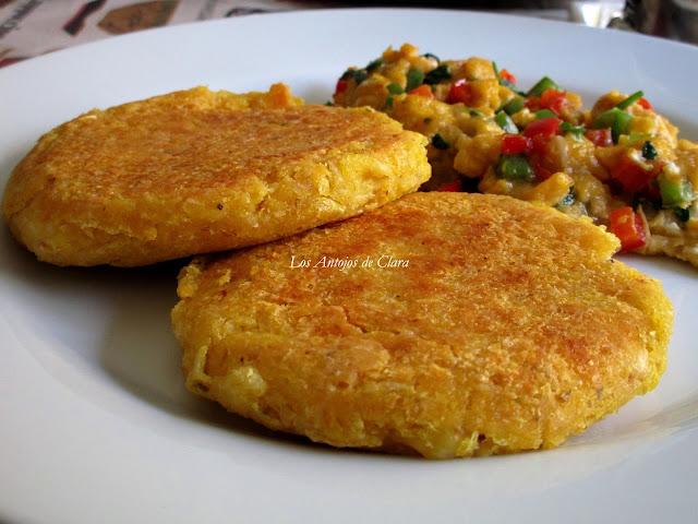 Arepas integrales de maíz amarillo