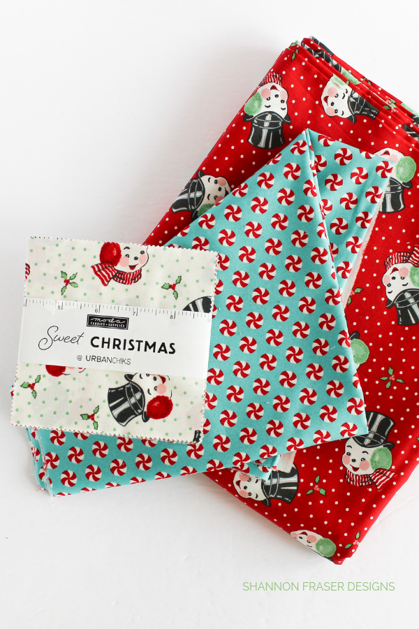 Sweet Christmas fabric | Q4 Finish-a-Long List of Projects | Shannon Fraser Designs #modafabrics #christmasquilt