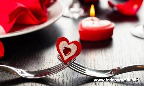 Como planear y celebrar san Valentin con una cena romantica