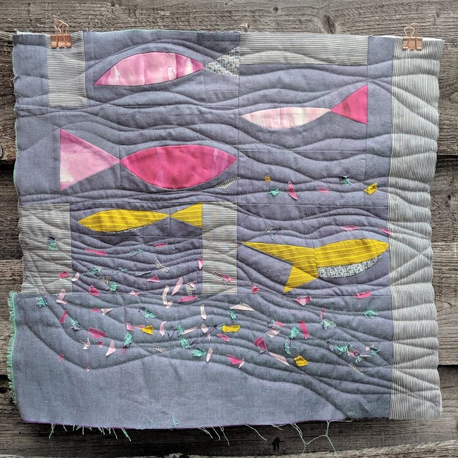improvised fish quilt