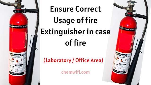 Handling of fire extinguishers
