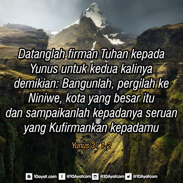 Yunus 3 : 1-2