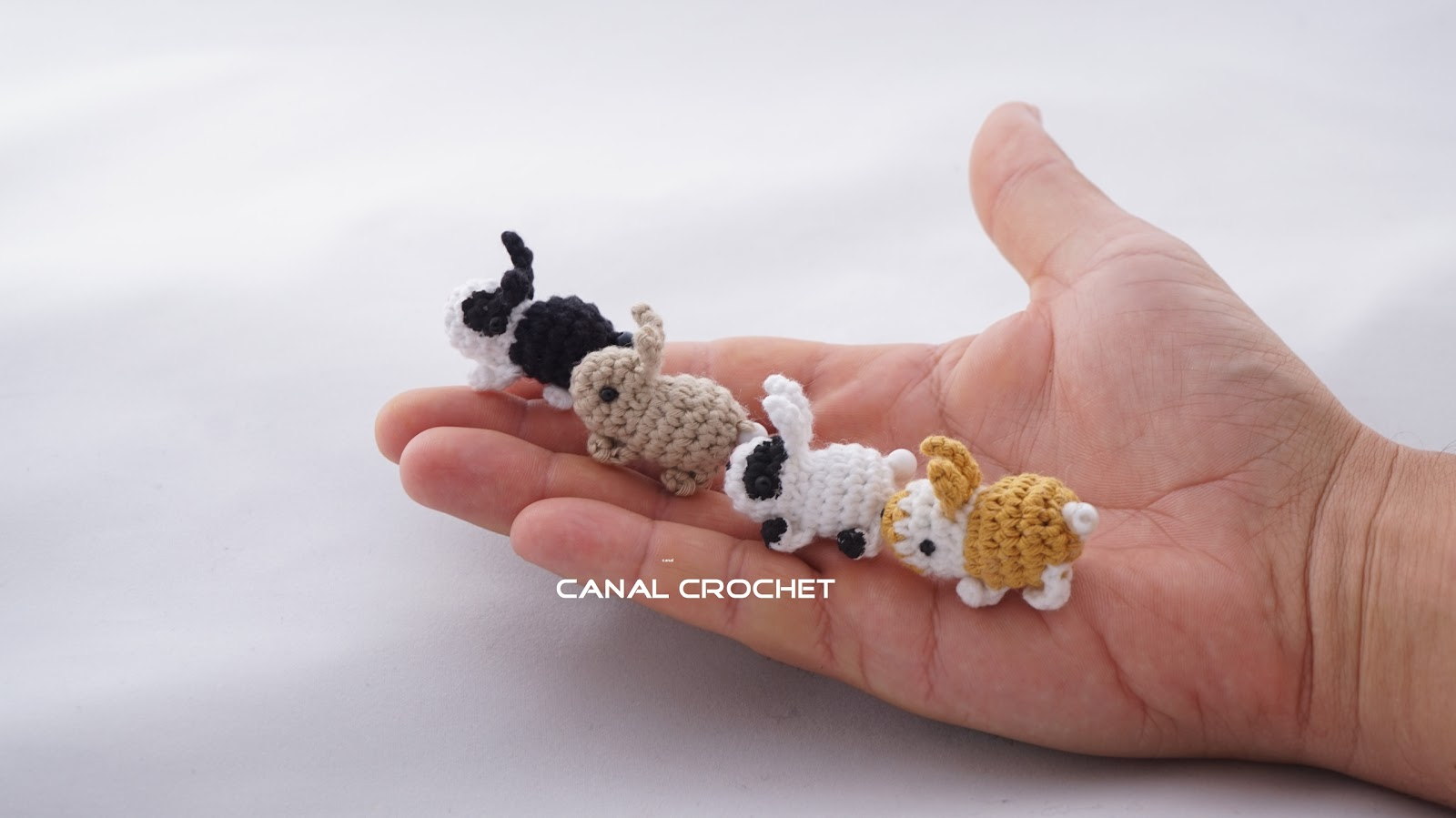 CANAL CROCHET: Mini conejitos amigurumis tutorial