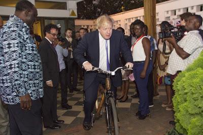 Uk Foreign Secretary, Boris Johnson, Commends Ghanaian Bamboo Bike Maker
