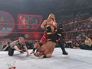 WWE / WWF No Way Out 2001 - Chris Jericho puts Chris Benoit in the Walls of Jericho