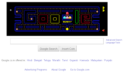 Play PAC-MAN on google.com