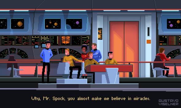 Gustavo Viselner ilustrações pixel art filmes tv referências Jornada nas Estrelas (Star Trek)