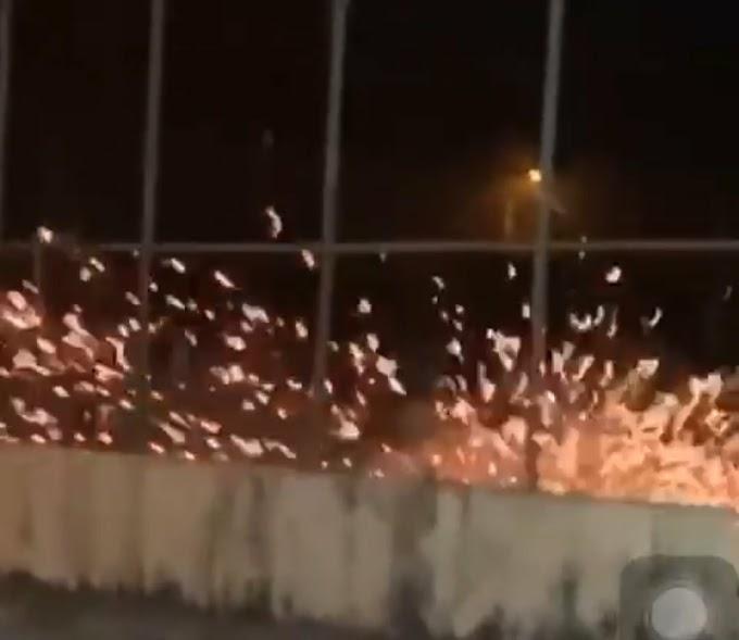 Moradores de Cruz das Almas comemoram a chegada do mês de junho com queima de espadas