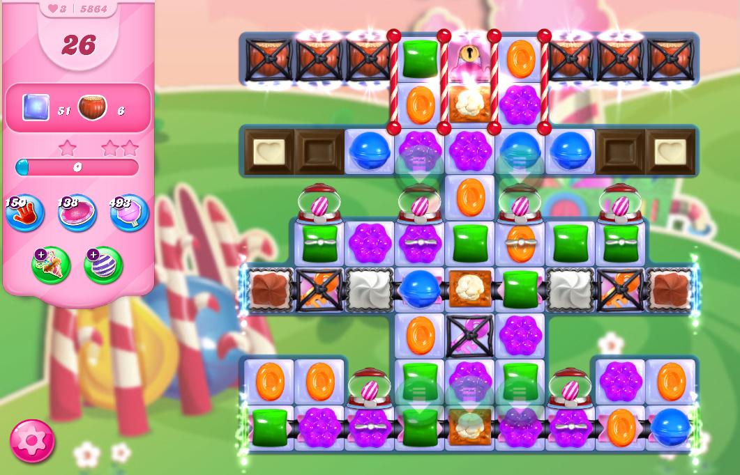 Candy Crush Saga level 5864