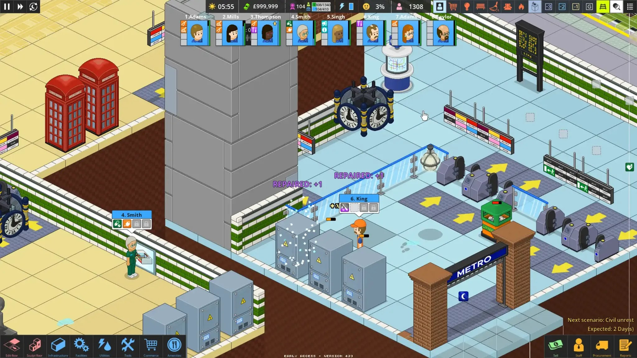 Medic and Janitor in Overcrowd