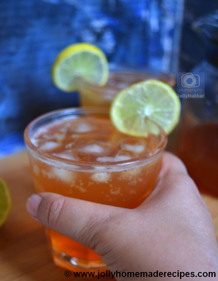 Lemon Iced Tea with Soda