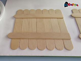 lavoretti con bastoncini di legno