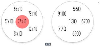 Multiplicación por decena y centena completa, con 6 símbolos.