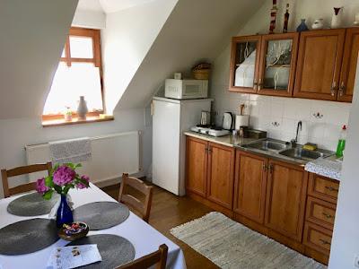Pensjonat Krisztina Vendégház, Eger, pokój 3 osobowy, kuchnia