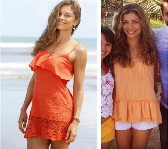 Ester (Grazi Massafera) looks praia na novela