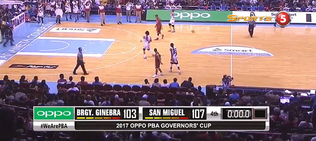 San Miguel def. Ginebra, 107-103 (REPLAY VIDEO) September 10