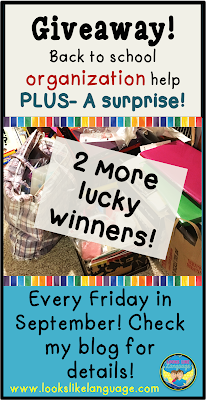 Giveaway fun at Looks Like Language! Last week!