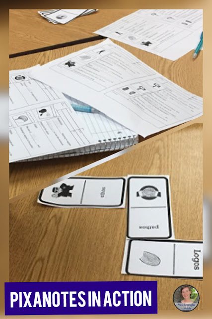Pixanotes are perfect for differentiating Language Arts content in your Middle School Classroom!  #teaching #pixanotes #interactivenotebook #notes