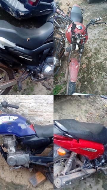 Brejo: Polícia Militar recupera 04 motos roubadas.