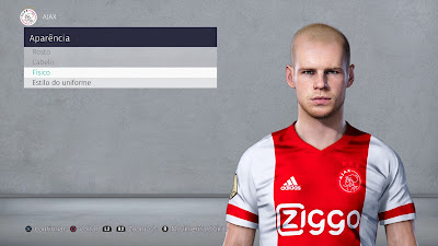 PES 2021 Faces Davy Klaassen